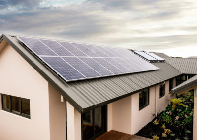papamoa show home solar panels on roof